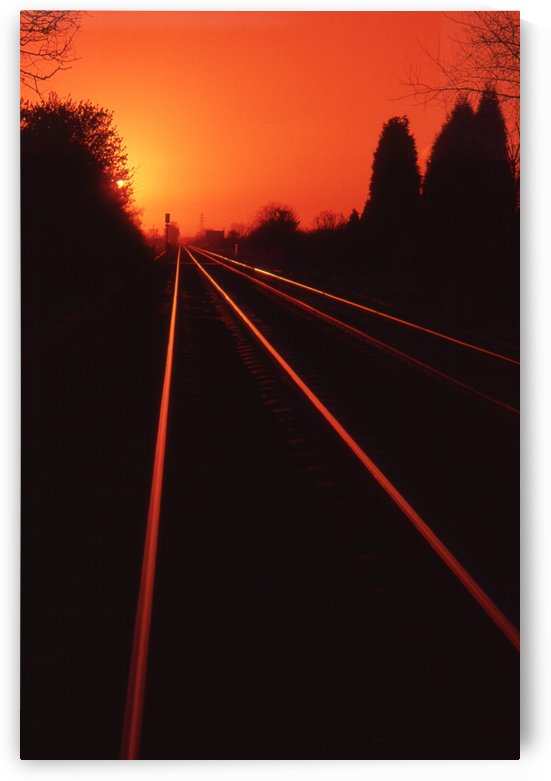 Red rails by Andy Jamieson