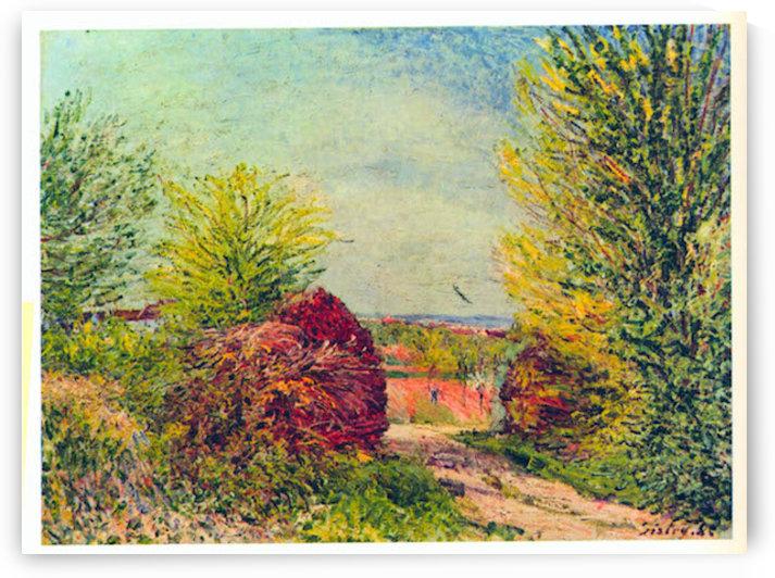 Veneux-Nadon in the spring by Sisley by Sisley