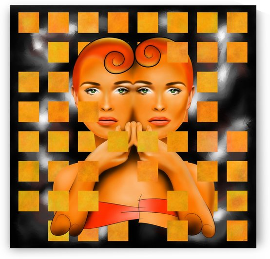 Tetrathos V1 - heart head by Cersatti Art
