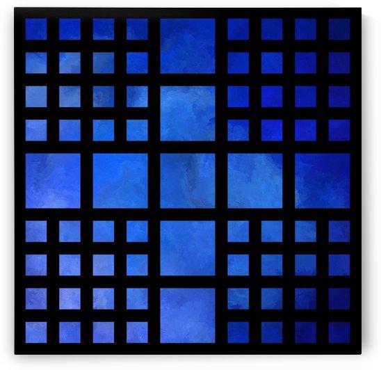 Cappanella V1 - blue squares by Cersatti Art