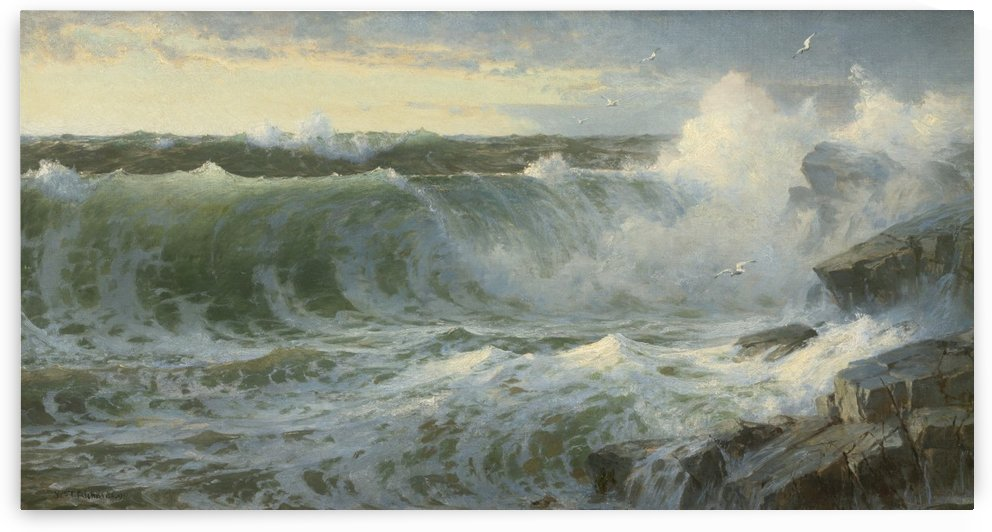 Rocky surf off Rhode Island by William Trost Richards