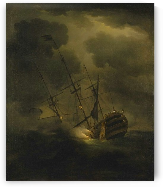 Loss of HMS Victory, 4 October 1744 by Peter Monamy