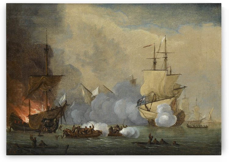 The Battle of Malaga by Peter Monamy