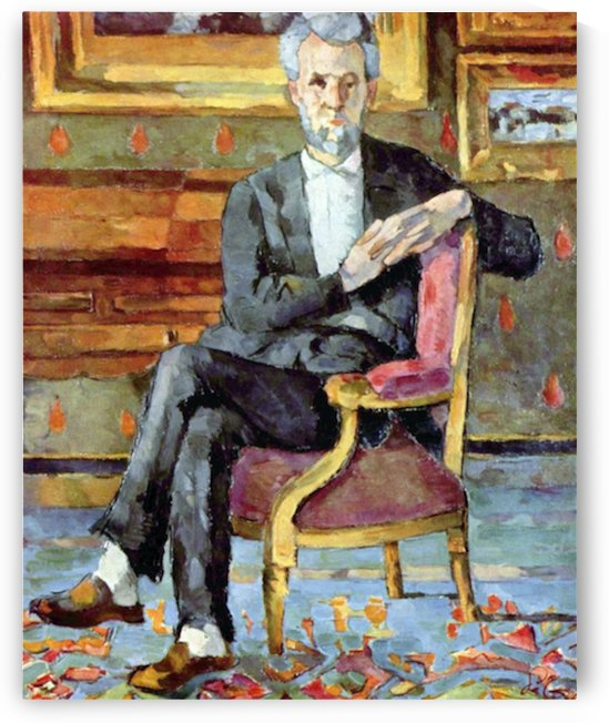 Victor Chocquet seated portrait by Cezanne by Cezanne