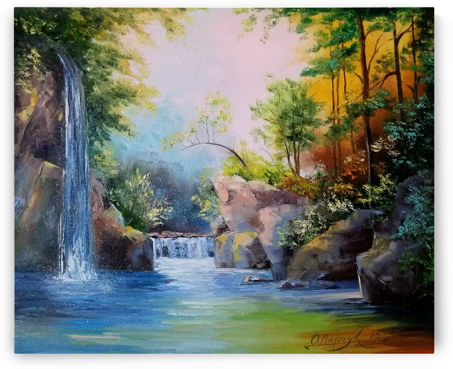 In the woods by the waterfall by Olha Darchuk