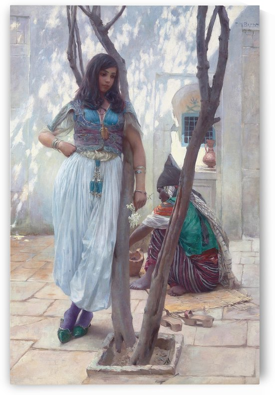 Girl with a tree by Ferdinand Max Bredt