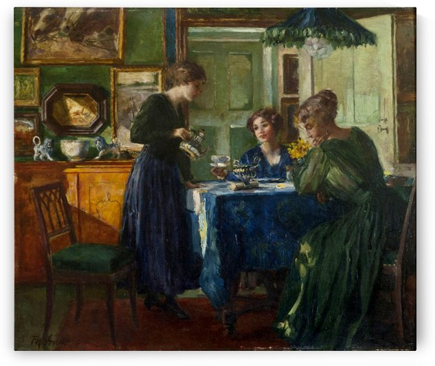 Women serving breakfast by Ferdinand Max Bredt
