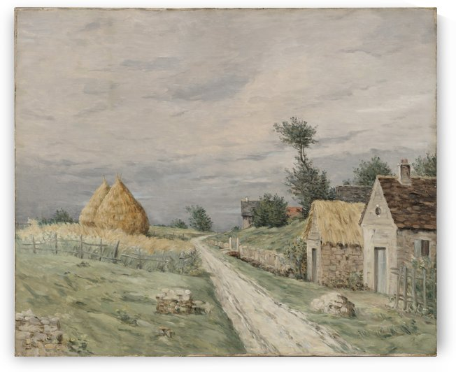 Landscape of a village by Jean Charles Cazin