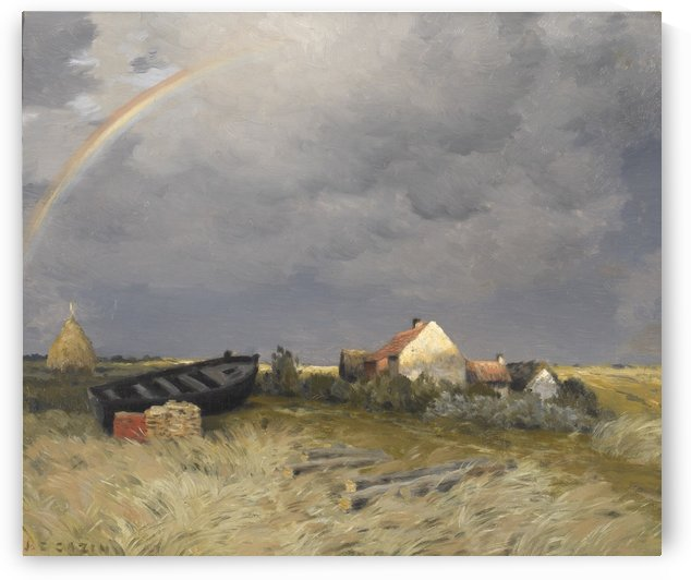 Rainbow in the sky by Jean Charles Cazin