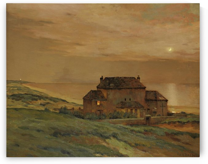 Country house in sunset by Jean Charles Cazin