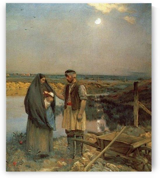 Die muede Wanderer by Jean Charles Cazin