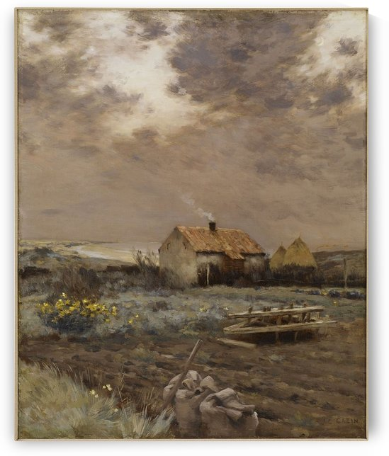 Country house landscape by Jean Charles Cazin