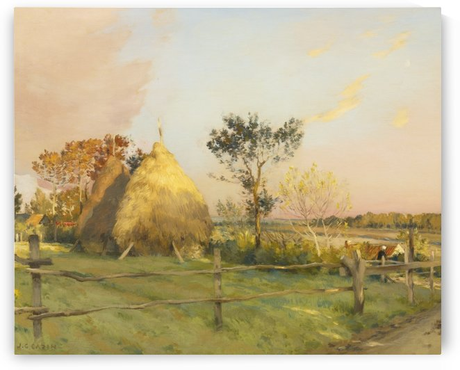 Summer morning on a field by Jean Charles Cazin