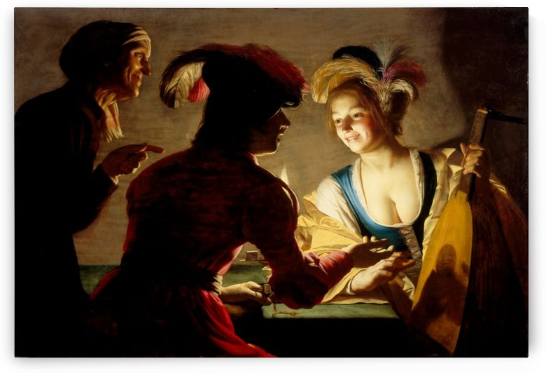 The procuress by Gerrit van Honthorst