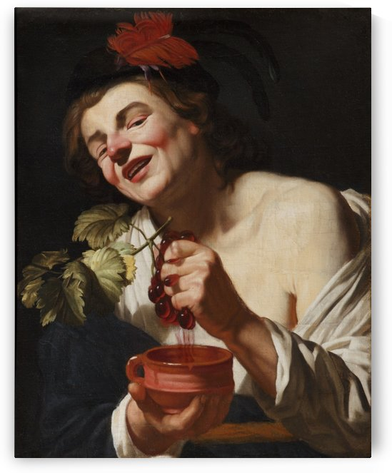 Making wine by Gerrit van Honthorst