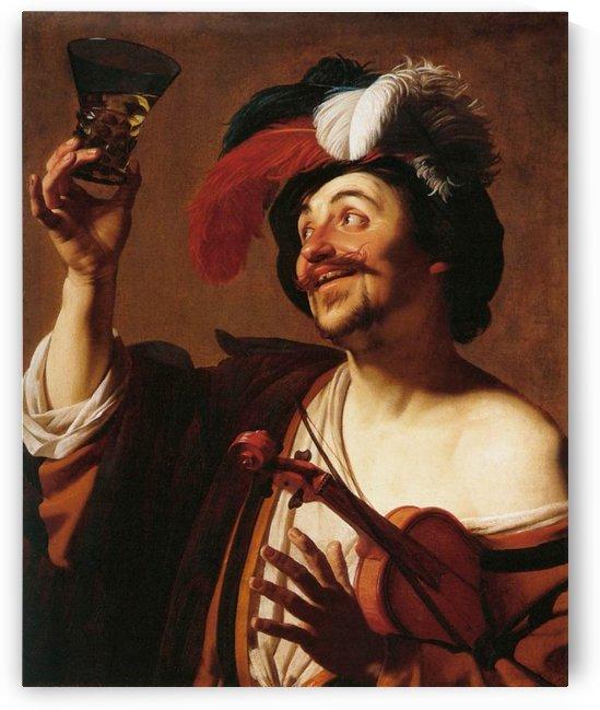 Man praising a cup by Gerrit van Honthorst