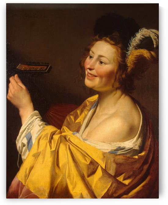 Lute player by Gerrit van Honthorst