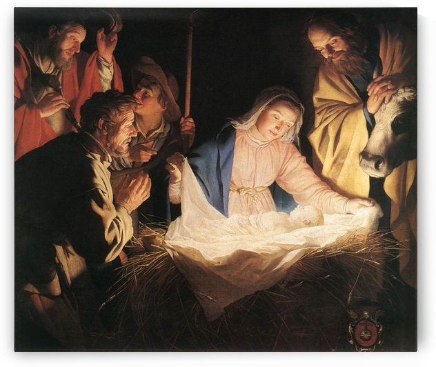 Birth of Christ by Gerrit van Honthorst