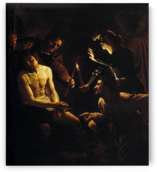 Dutch and the Christ by Gerrit van Honthorst