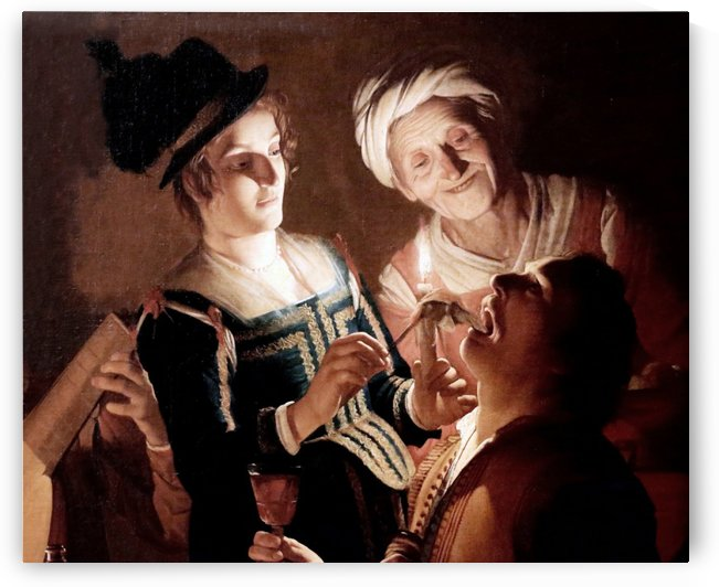 Dentist in Florence by Gerrit van Honthorst