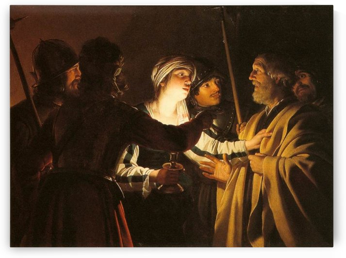 The Denial of St Peter by Gerrit van Honthorst