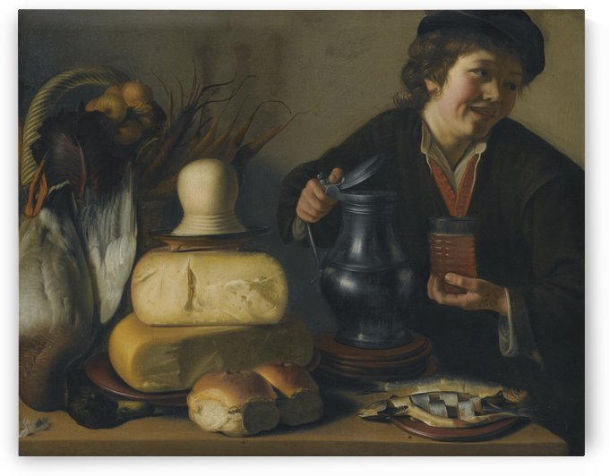 A man serving lunch by Gerrit van Honthorst