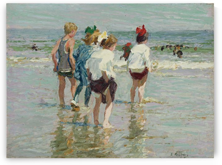 Summer day, Brighton Beach by Edward Henry Potthast