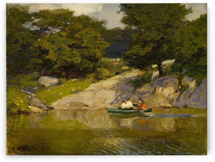 Boating in Central Park by Edward Henry Potthast