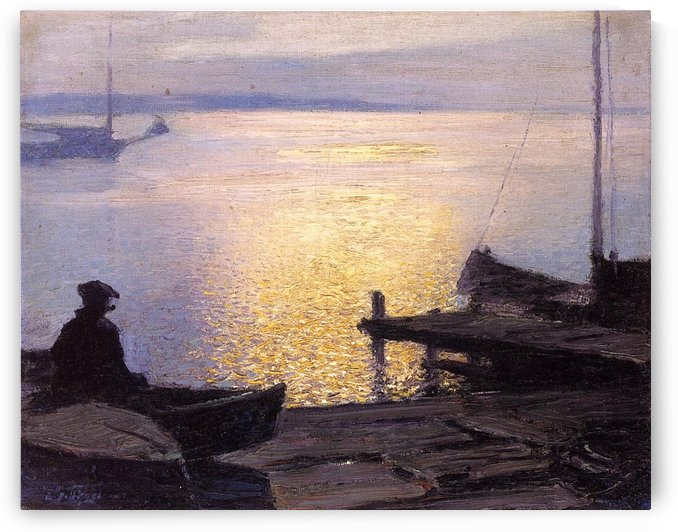 Fisherman in the sunset by Edward Henry Potthast