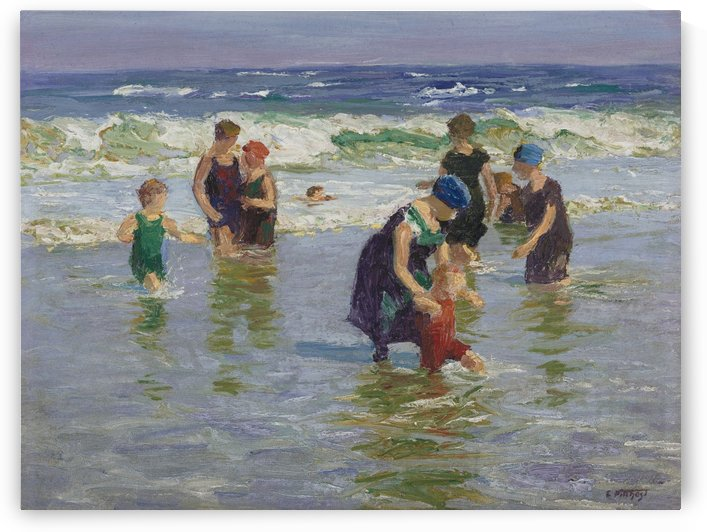 People enjoying the sea by Edward Henry Potthast