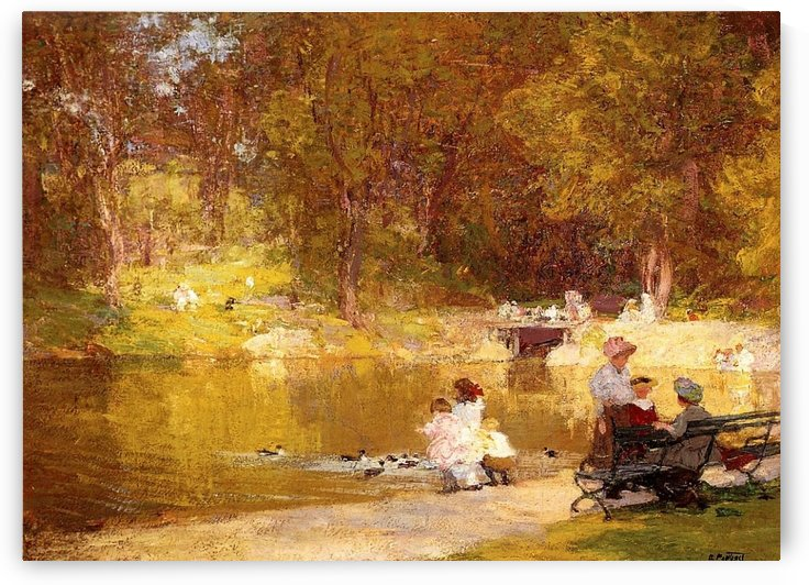 In Central Park by Edward Henry Potthast