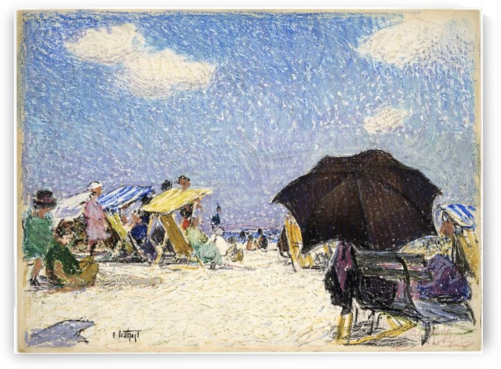 Scene by the beach by Edward Henry Potthast