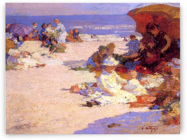 Picknickers on the Beach by Edward Henry Potthast