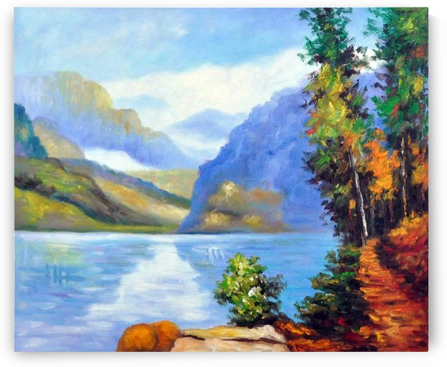Lake Louise, British Columbia by Edward Henry Potthast