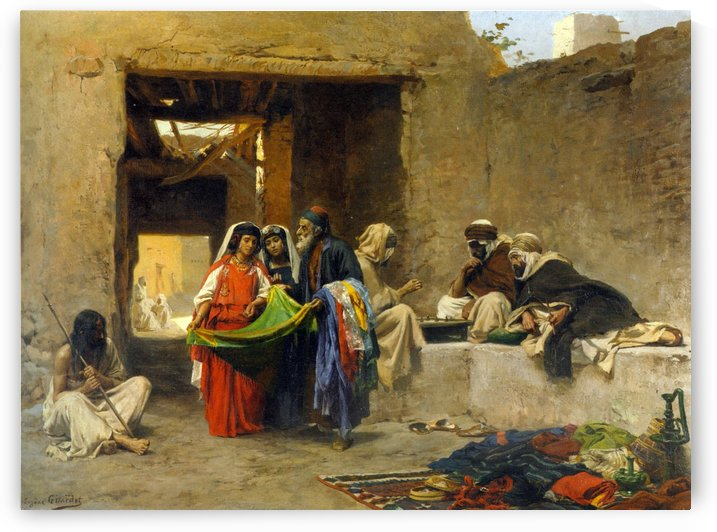 Au Souk by Eugene Alexis Girardet