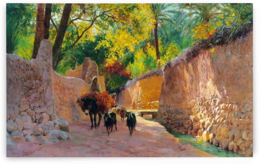 Sur le chemin du marche by Eugene Alexis Girardet