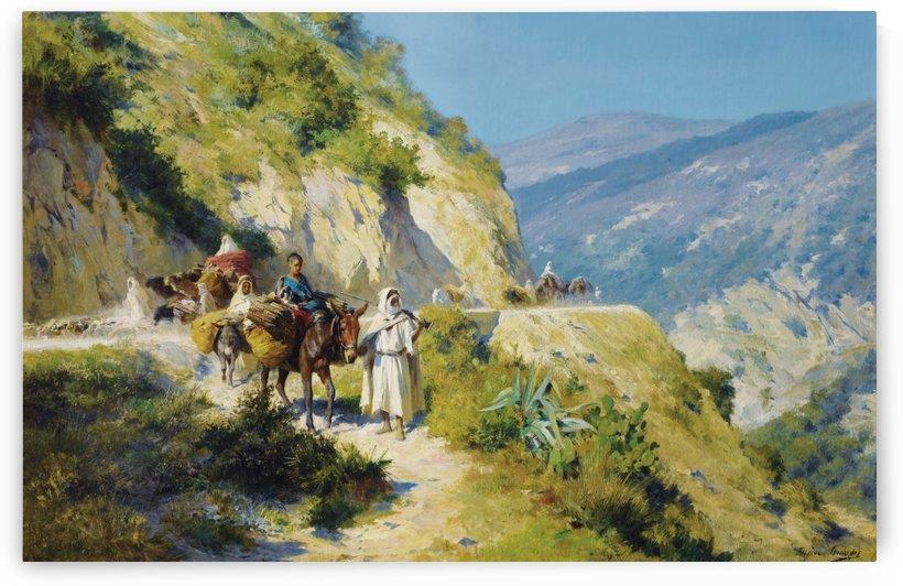 Le retour du troupeau by Eugene Alexis Girardet