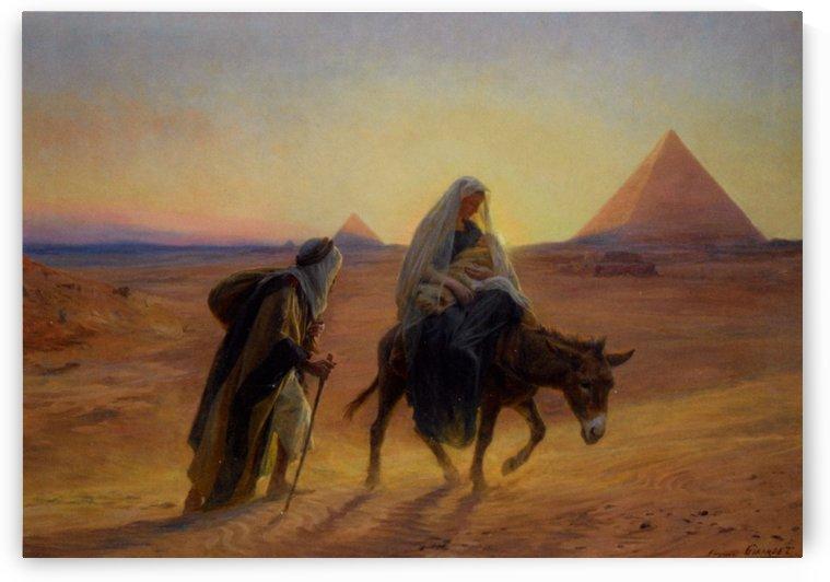 Flight into Egypt by Eugene Alexis Girardet