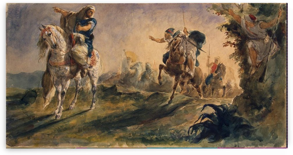 Arab Riders on Scouting Mission by Eugene Alexis Girardet