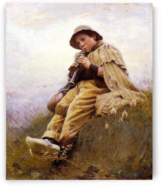 Shepherd Boy by Eugene Alexis Girardet