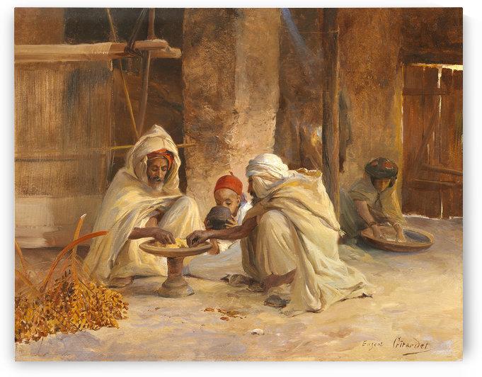 Dinner in Algeria by Eugene Alexis Girardet