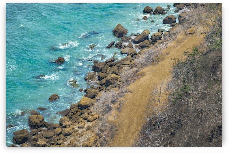 Aerial View Pacific Ocean Coastline Puerto Lopez Ecuador by Daniel Ferreia Leites Ciccarino