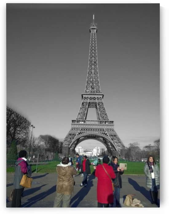 Eiffel tower tourist Paris by splash