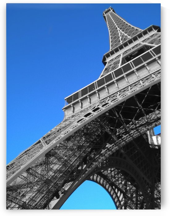 silver Eiffel tower Paris by splash