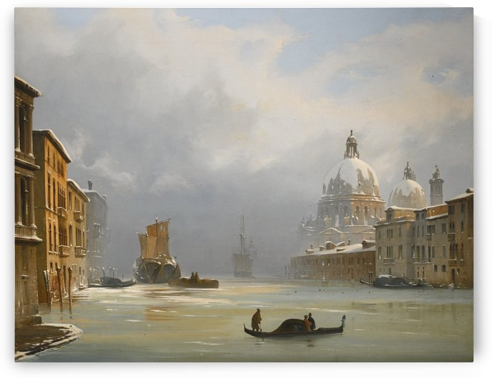 The road to Rome by Ippolito Caffi