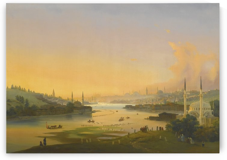 Sunrise over the Golden Horn by Ippolito Caffi