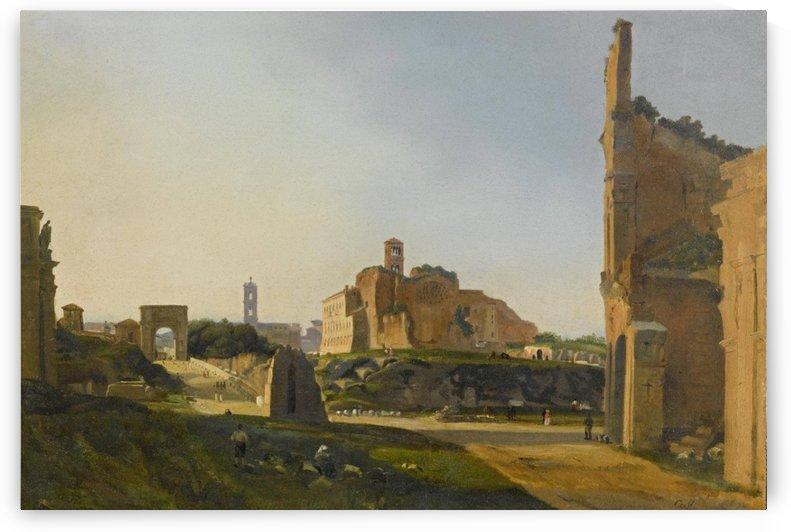 Roma con i fori by Ippolito Caffi
