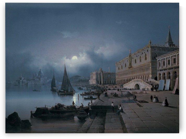 La Riva degli Schiavoni a Venezia, 1850 by Ippolito Caffi