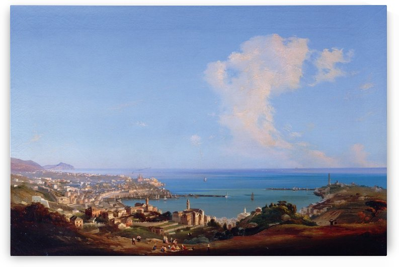 View of Rome from Monte Mario, 1857 by Ippolito Caffi