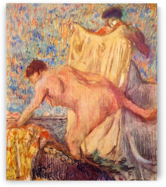 Withdrawing from the bathtub by Degas by Degas